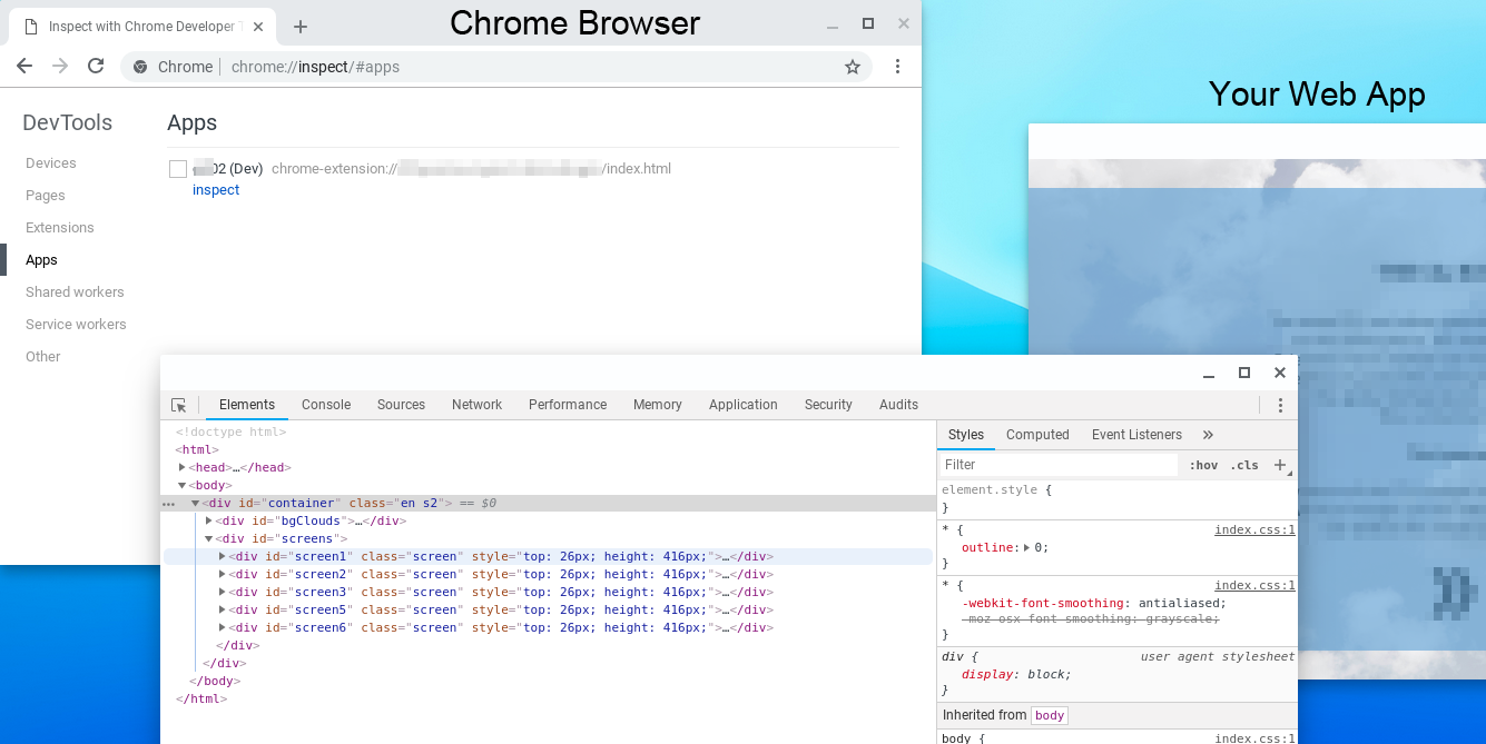 Debug Chromebox Web App